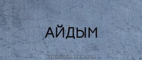 АЙДЫМ