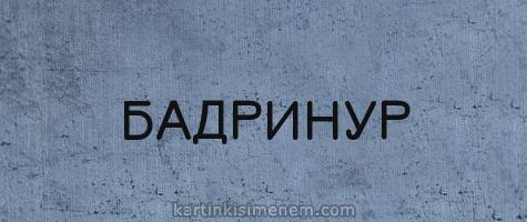 БАДРИНУР