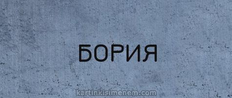 БОРИЯ