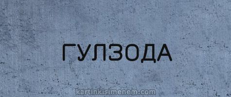 ГУЛЗОДА
