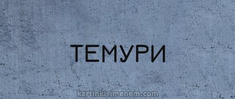 ТЕМУРИ