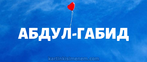 АБДУЛ-ГАБИД