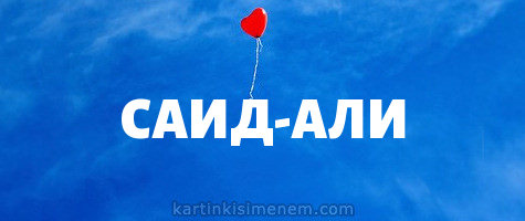 САИД-АЛИ